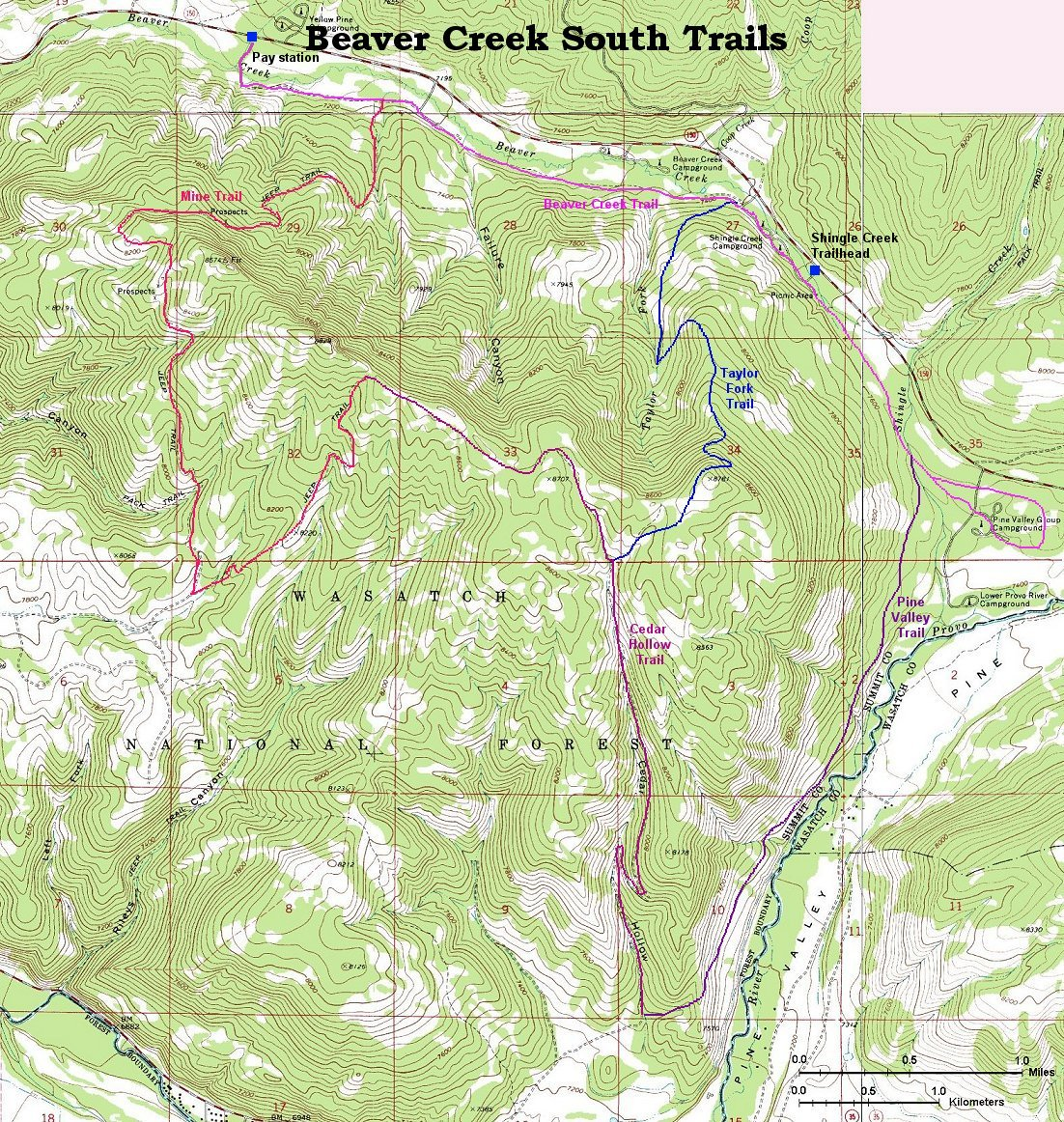 Cross Country Skiing In The Beaver Creek Area - Beavercreek trail map