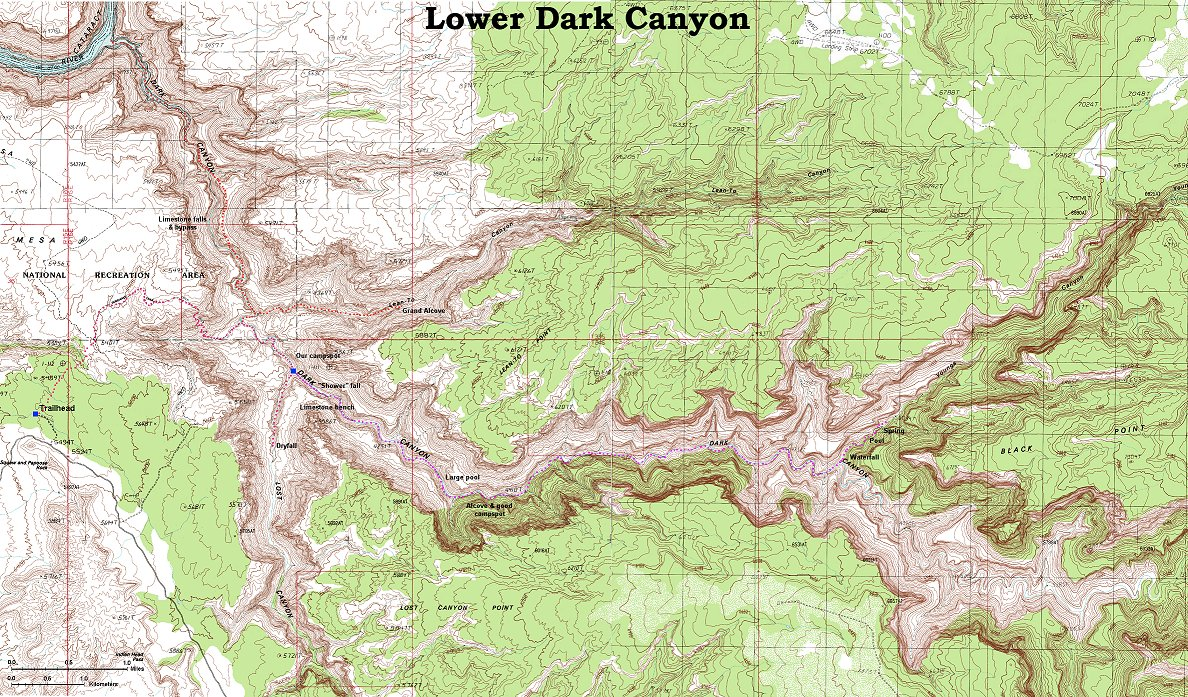 Backpacking In Dark Canyon