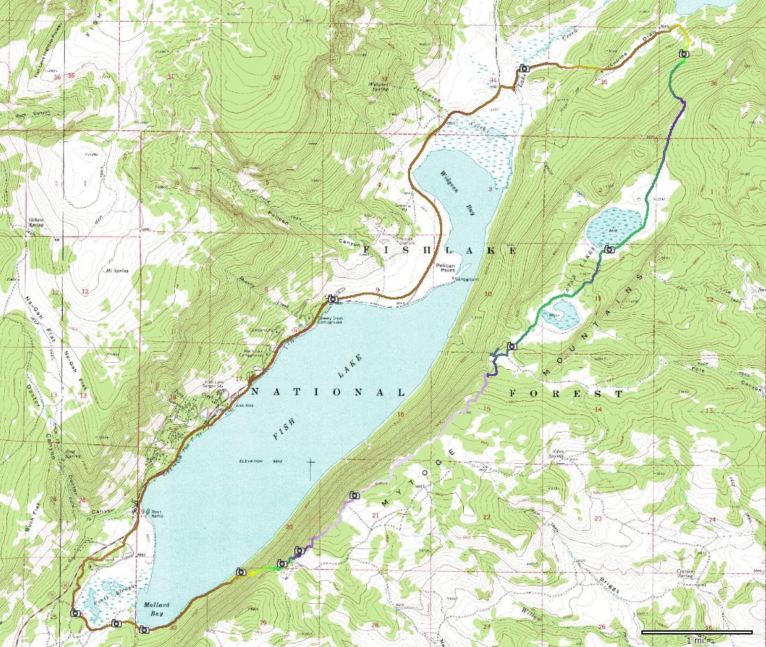 Fish lake loop for Fish lake utah